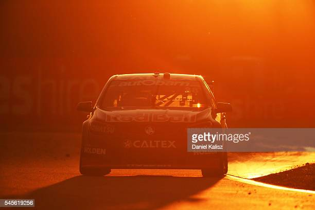 Jamie Whincup drives the Red Bull Racing Australia Holden Commodore VF during qualifying ahead of the Townsville 400 at Reid Park on July 9 2016 in...