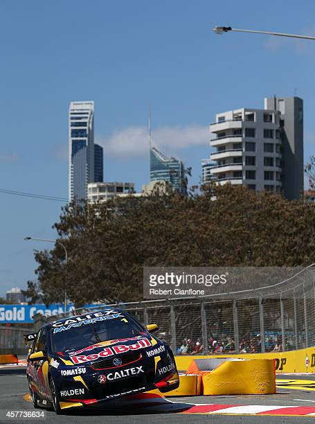 Jamie Whincup drives the Red Bull Racing Australia Holden during practice for the Gold Coast 600 which is round 12 of the V8 Supercars Championship...