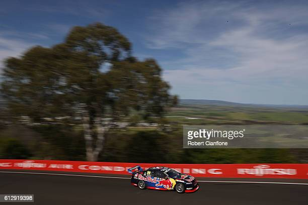 Jamie Whincup drives the Red Bull Racing Australia Holden during practice for the Bathurst 1000 which is race 21 of the Supercars Championship at...