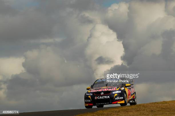Jamie Whincup drives the Red Bull Racing Australia Holden during practice which is round nine of the V8 Supercar Championship Series at Sydney...