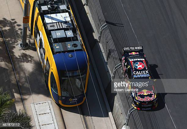 Jamie Whincup drives the Red Bull Racing Australia Holden during race 32 for the Gold Coast 600 which is round 12 of the V8 Supercars Championship...