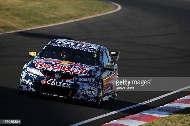 Jamie Whincup drives the Red Bull Racing Australia Holden during warm up for the Bathurst 1000 which is round 11 and race 30 of the V8 Supercars...