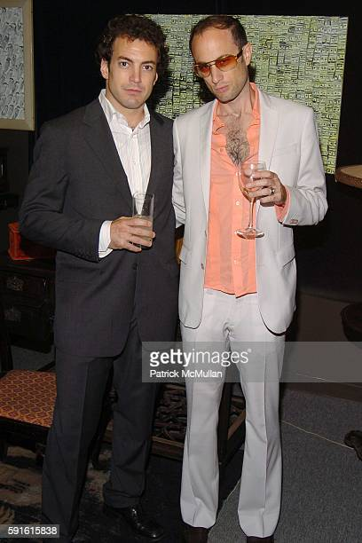 Jamie Whitehead and Andrew Boose attend Amendorg Founders' Dinner at Hunt Slonem Studio on June 30 2005 in New York City