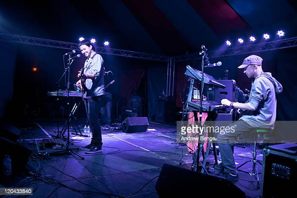 Jamie Woon performs on stage during the first day of YNot Festival 2011 on August 5 2011 in Matlock United Kingdom