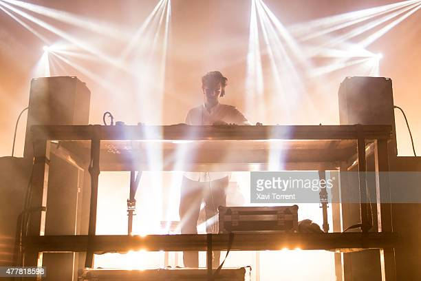 Jamie XX performs on stage during day 2 of Sonar Music Festival on June 19 2015 in Barcelona Spain
