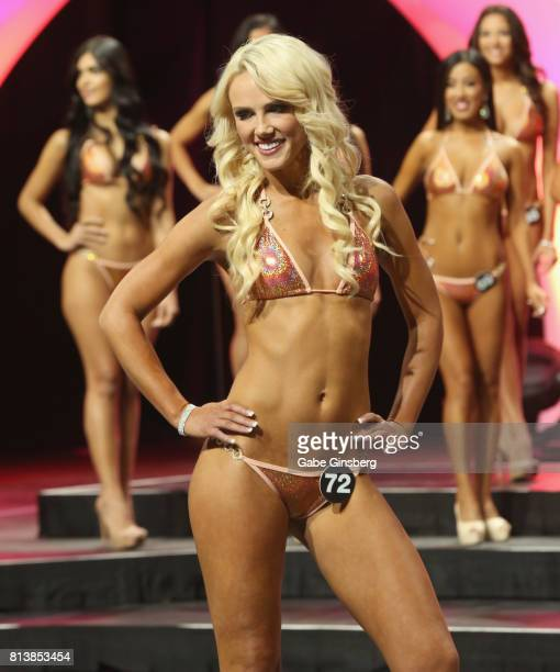 JamieLee France of Sydney Australia competes during the 21st annual Hooters International Swimsuit Pageant at The Pearl concert theater at Palms...