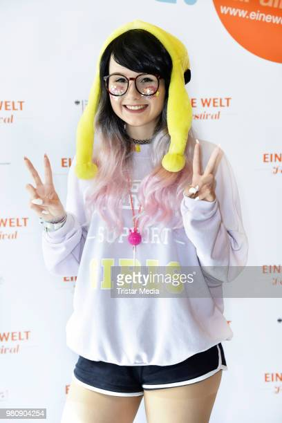 JamieLee Kriewitz during the 'Eine Welt Festival' photo call at Admiralspalast on June 21 2018 in Berlin Germany The festival takes place on the...