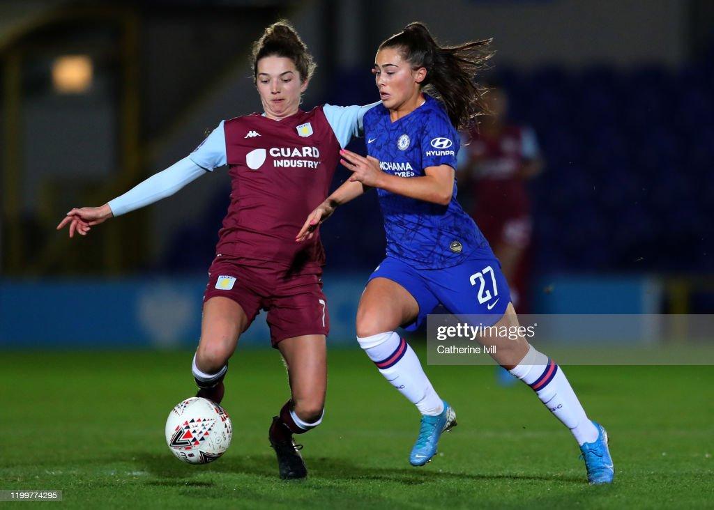 Chelsea Women v Aston Villa Women - FA Women's Continental League Cup: Quarter-Final : News Photo