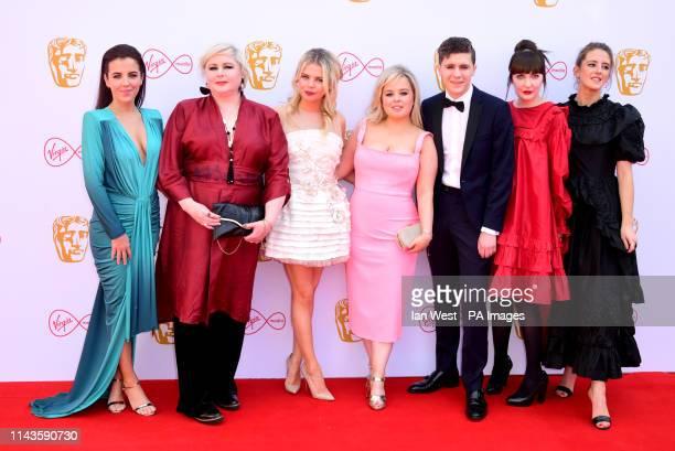 JamieLee O'Donnell Siobhan McSweeney SaoirseMonica Jackson Nicola Coughlan Dylan Llewellyn Kathy Kiera Clarke and Louisa Harland attending the Virgin...