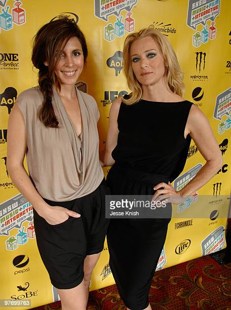 JamieLynn Sigler and Angela Featherstone attend the Wake premiere at the 2010 SXSW Festival at Paramount Theater on March 13 2010 in Austin Texas