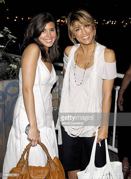 JamieLynn Sigler and Jennifer Esposito during Armani Exchange and Nylon Magazine present the Sunset Soiree at Pier 40 in New York City New York...