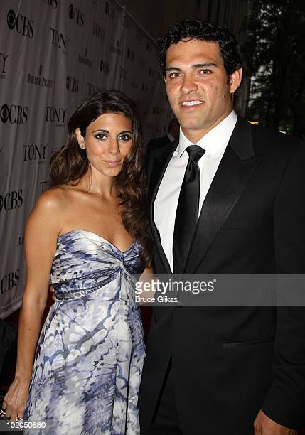 JamieLynn Sigler and Mark Sanchez attend the 64th Annual Tony Awards at Radio City Music Hall on June 13 2010 in New York City