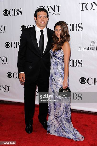 JamieLynn Sigler and Mark Sanchez attends the 64th Annual Tony Awards at Radio City Music Hall on June 13 2010 in New York City