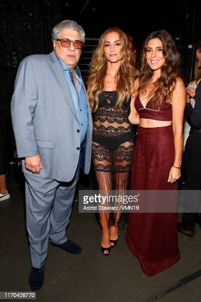 JamieLynn Sigler Vincent Pastore and Drea de Matteo pose backstage during the 2019 MTV Video Music Awards at Prudential Center on August 26 2019 in...