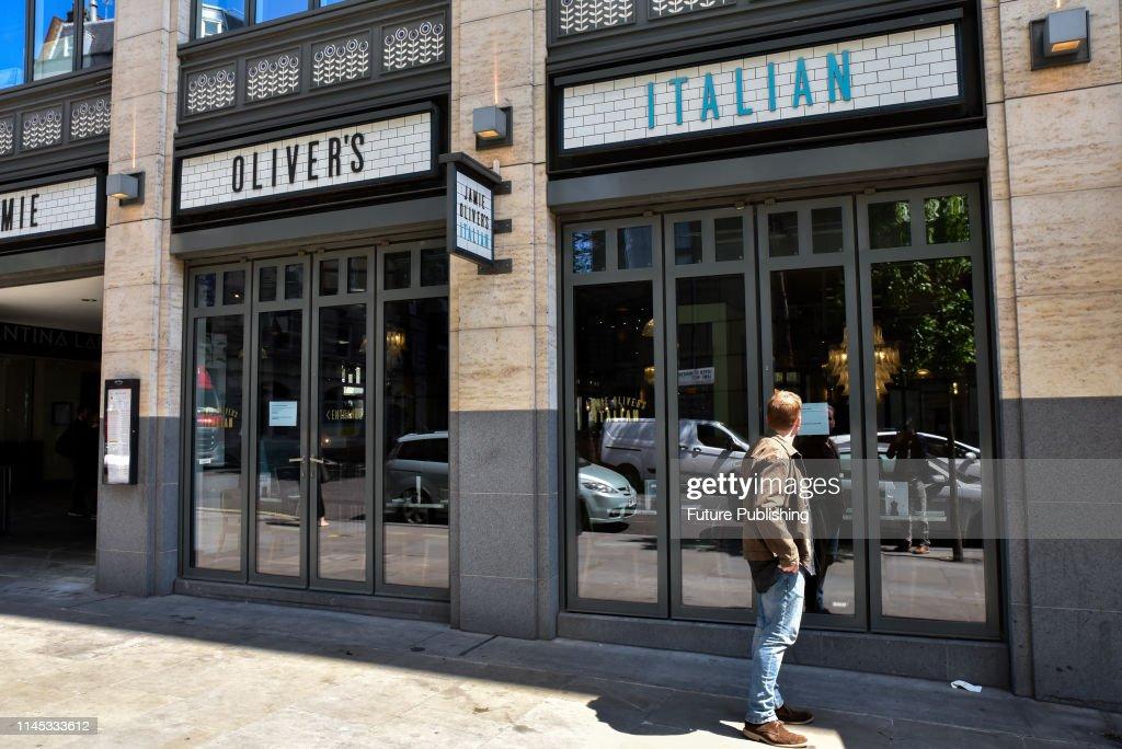 Jamie's Italian restaurant on St Martin's Lane now closed for
