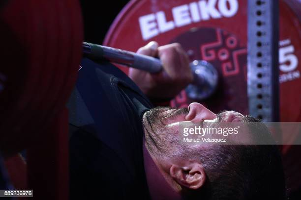 Jamil Elshebli of Jordan competes during the Men's Over to 107 Kg Group A Category as part of the World Para Powerlifting Championship Mexico 2016 at...