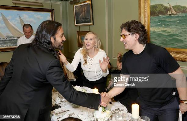 Jamil Shamasdin Susan Duffy and Giovanni Morelli attend as Edward Enninful and Kate Moss celebrate Giovanni Morelli as the new creative director of...