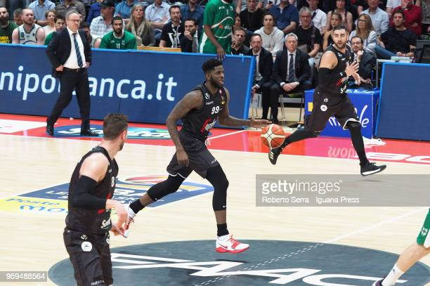 Jamil Wilson and Filippo Baldi Rossi and Pietro Aradori of Segafredo in action during the LBA LegaBasket match between Virtus Segafredo Bologna and...