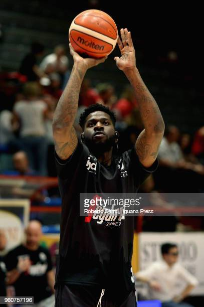 Jamil Wilson of Segafredo in action during the LBA LegaBasket match between Olimpia The Flexx Pistoia and Virtus Segafredo Bologna on April 29 2018...