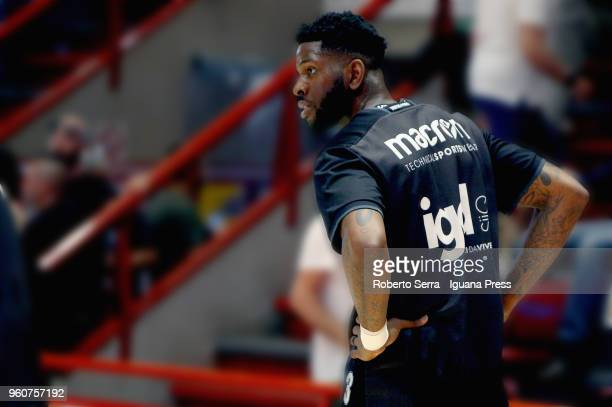 Jamil Wilson of Segafredo looks over during the LBA LegaBasket match between Olimpia The Flexx Pistoia and Virtus Segafredo Bologna on April 29 2018...
