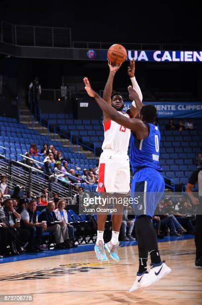 Jamil Wilson of the Agua Caliente Clippers shoots the shot against the Ontario on November 10 2017 at Citizens Business Bank Arena in Ontario...