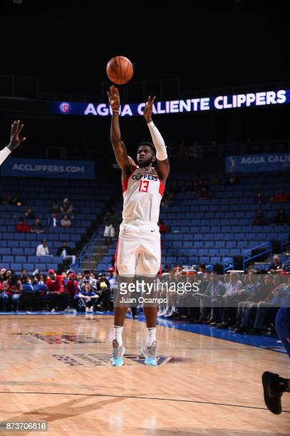 Jamil Wilson of the Agua Caliente Clippers takes on the Texas Legends in Ontario on November 10 2017 at Citizens Business Bank Arena in Ontario...