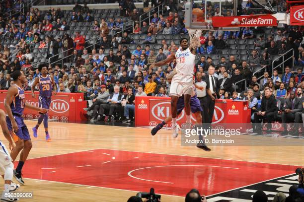 Jamil Wilson of the LA Clippers dunks the ball against the Phoenix Suns on December 20 2017 at STAPLES Center in Los Angeles California NOTE TO USER...