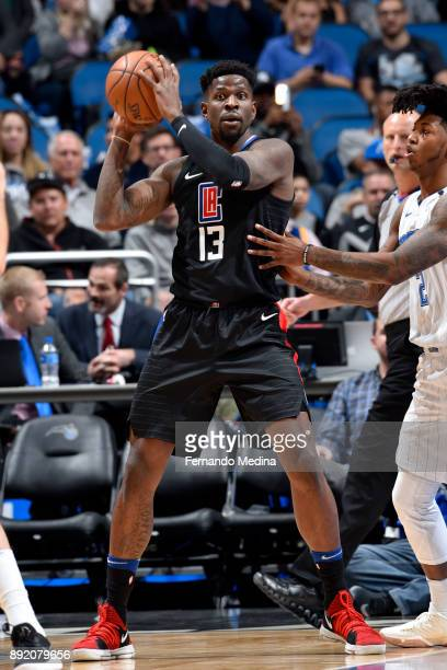 Jamil Wilson of the LA Clippers handles the ball against the Orlando Magic on December 13 2017 at Amway Center in Orlando Florida NOTE TO USER User...