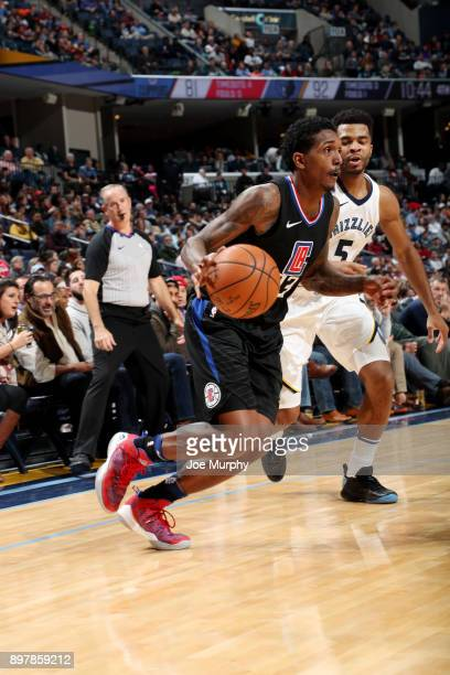 Jamil Wilson of the LA Clippers handles the ball during the game against the Memphis Grizzlies on December 23 2017 at FedExForum in Memphis Tennessee...