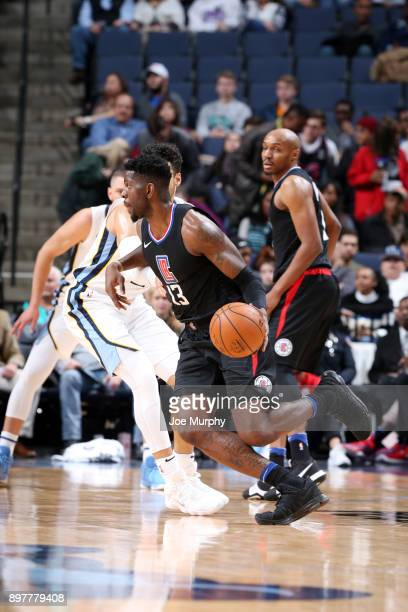 Jamil Wilson of the LA Clippers handles then all during the game against the Memphis Grizzlies on December 23 2017 at FedExForum in Memphis Tennessee...