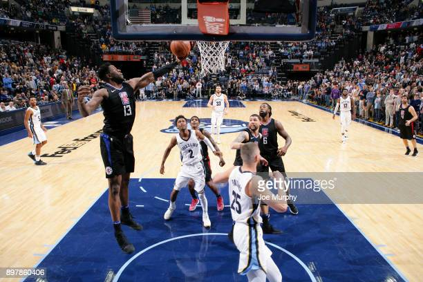 Jamil Wilson of the LA Clippers rebounds the ball during the game against the Memphis Grizzlies on December 23 2017 at FedExForum in Memphis...