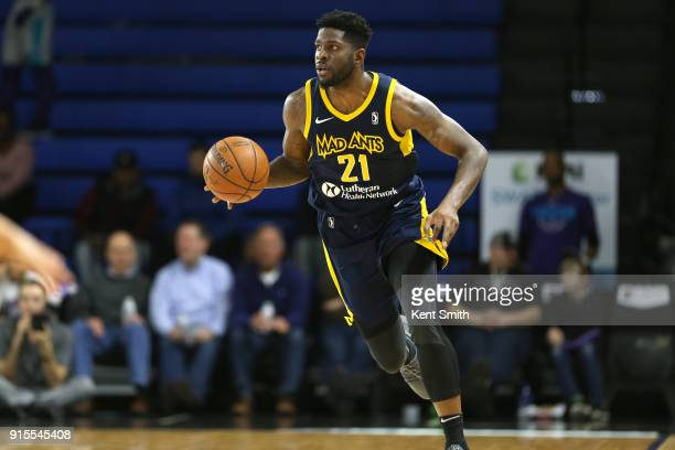 Jamil Wilson of the Fort Wayne Mad Ants handles the ball against the Greensboro Swarm during the NBA GLeague on February 7 2018 at Greensboro...