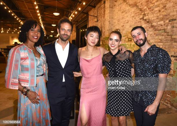 Jamila Cox Benjamin Millepied Patricia Zhou Daisy Jacobson and Mario Gonzalez attend the 2018 LA Dance Project Gala at Hauser Wirth on October 20...