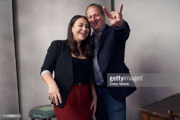 Jamila Ephron and Barak Goodman of the film 'Woodstock Three Days That Defined a Generation' poses for a portrait during the 2019 Tribeca Film...