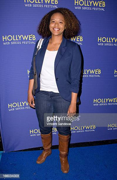 Jamila Webb attends the 2nd annual HollyWeb Festival at Avalon on April 7 2013 in Hollywood California