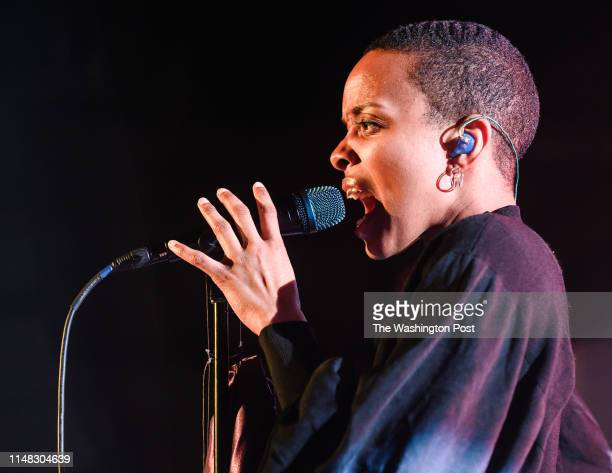 Jamila Woods performs at a sold out Union Stage on Tuesday night