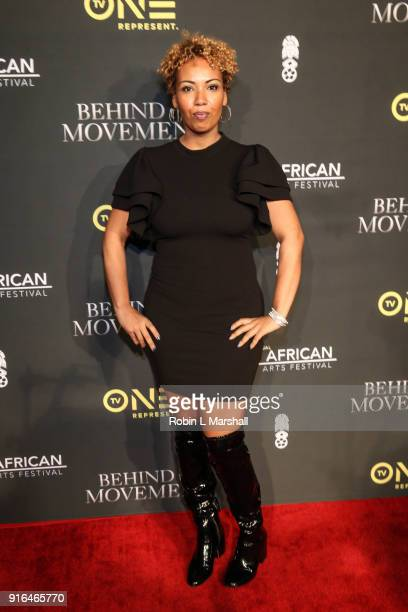 Jamilah Lemieux attends 'Behind The Movement' Red Carpet Event at Cinemark Baldwin Hills Crenshaw Plaza 15 on February 9 2018 in Los Angeles...