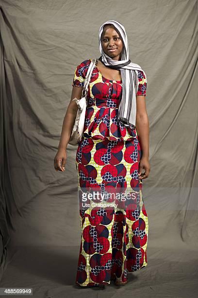 Jamilia Youssouf 22 years old from Agadez in Niger poses during SAFEM Salon international de l'artisanat pour la femme trade fair on December 09 2013...