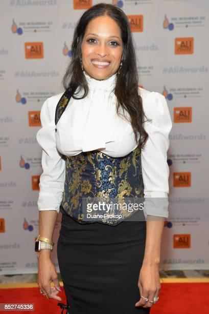 Jamillah AliJoyce arrives for The Muhammad Ali Humanitarian Awards at Marriott Louisville Downtown on September 23 2017 in Louisville Kentucky