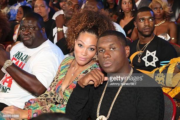 Jamillah Farrakhan and Jay Electronica attend the BET Hip Hop Awards 2014 at Boisfeuillet Jones Atlanta Civic Center on September 20 2014 in Atlanta...