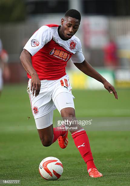 Jamille Matt of Fleetwood Town in action during the Sky Bet League Two match between Fleetwood Town and Chesterfield at Highbury Stadium on October...