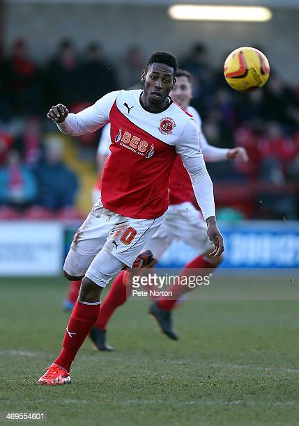 Jamille Matt of Fleetwood Town in action during the Sky Bet League Two match between Fleetwood Town and Northampton Town at Highbury Stadium on...