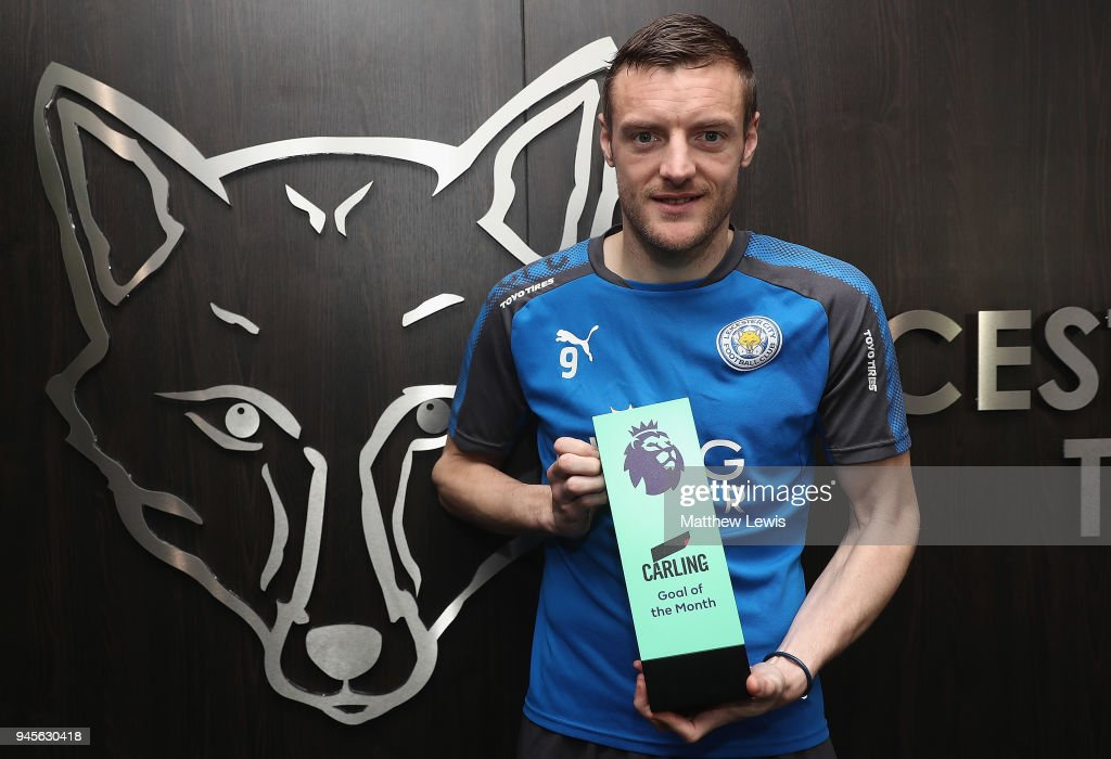 Jamie Vardy wins the Carling Premier League Goal of the Month Award for March 2018