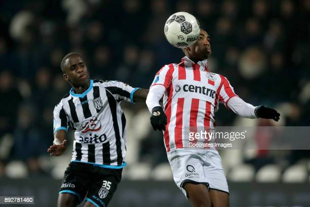 Jamiro Monteiro of Heracles Almelo Deroy Duarte of Sparta Rotterdam during the Dutch Eredivisie match between Heracles Almelo v Sparta at the Polman...