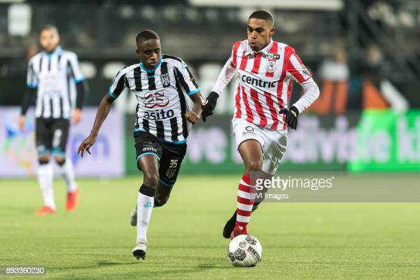 Jamiro Monteiro of Heracles Almelo Deroy Duarte of Sparta Rotterdam during the Dutch Eredivisie match between Heracles Almelo and Sparta Rotterdam at...