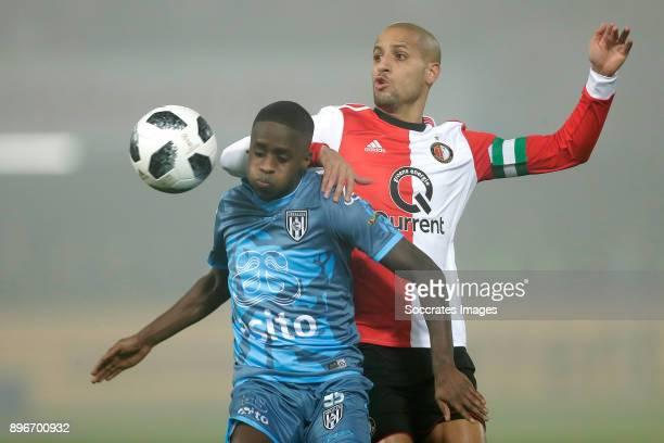 Jamiro Monteiro of Heracles Almelo Karim El Ahmadi of Feyenoord during the Dutch KNVB Beker match between Feyenoord v Heracles Almelo at the Stadium...