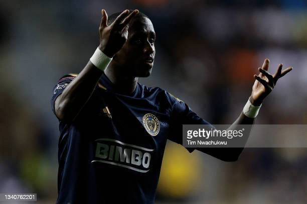 Jamiro Monteiro of Philadelphia Union looks on against Club America during the semifinal second leg match of the CONCACAF Champions League 2021 at...