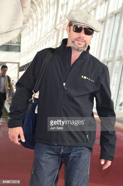 Jamiroquai's lead singer Jay Kay is seen on arrival at Haneda International Airport upon September 14 2017 in Tokyo Japan