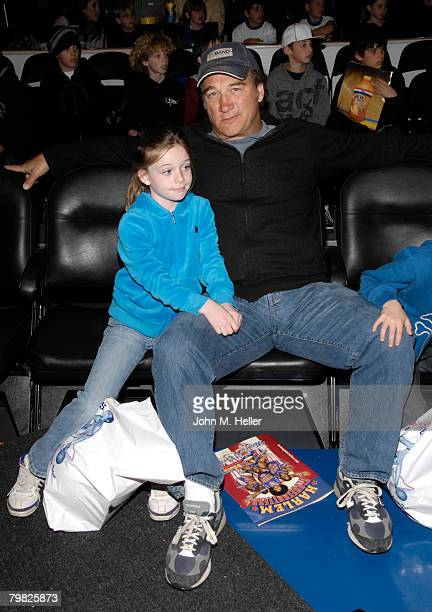 Jamison Belushi and Jim Belushi attend the Los Angeles premiere of the Harlem Globetrotters 2008 Magic As Ever World Tour at Staples Center on...