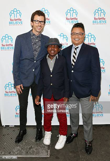 """Jamison Hebert, Zion Hebert-Mapa and Alec Mapa attend """"Voices For The Voiceless: Stars For Foster Kids"""" Event at St James Theater on June 29, 2015 in..."""
